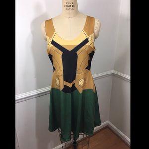 Avengers Loki cosplay costume dress